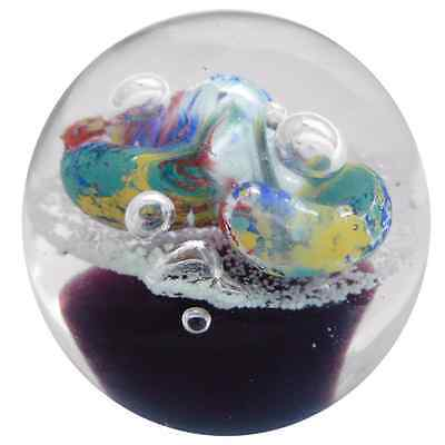 New Glass Paperweight Glow in Dark Ball Shape Home Decor 8.5 x 8.5 x 8 cm