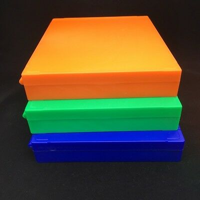 Plastic Microscope Slides Storage Box 100pcs Pathological Slides Holder Case