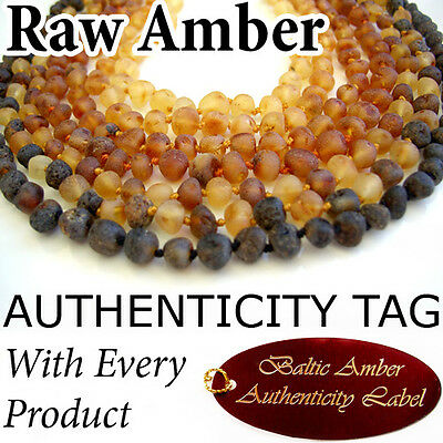 Authentic RAW BALTIC AMBER Baby Child NECKLACE AGbA®