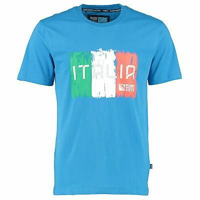 Adult Medium Rugby World Cup 2015 Italy T shirt Blue M1