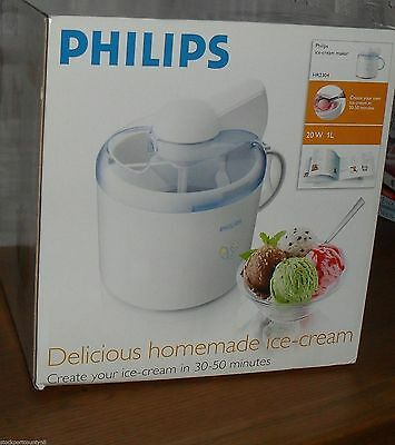 Philips Ice Cream Maker HR2304 Boxed with Instructions 1l 20w