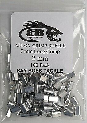 ALLOY CRIMPS 2 mm ID (short crimp) x 100