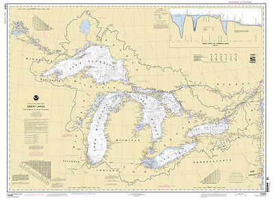 2009 Nautical Map of The Great Lakes