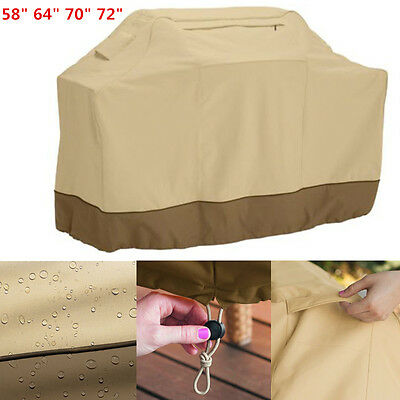 Waterproof BBQ Barbecue Cover Outdoor Rain Grill Protector With Storage Bag-UK