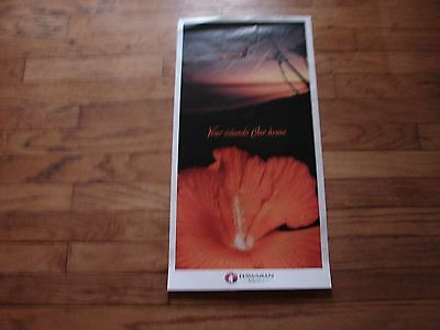 "Hawaiian Airlines - ""your Islands , Our Home"" Poster 30 X 10"