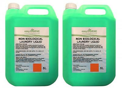 NON-BIO Green 10 Litre Laundry Liquid Clothes Wash 2 x 5L for washing machines