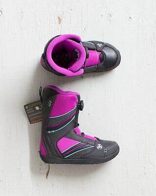K2 Kat Black Girls/youth Snowboard Boots Size 4, 5, 6, 7 Us