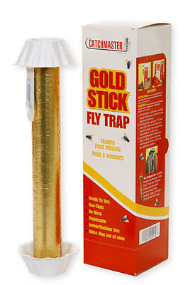 6 Catchmaster Mini Gold Stick Fly Traps