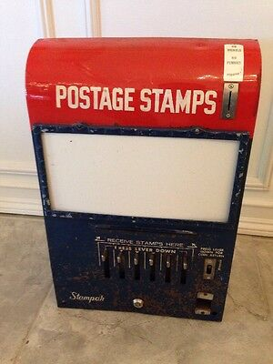 Vintage Us Postal Postage Stamp Vending Machine 25 Cent Quarter Dispenser