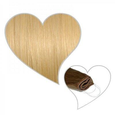 Easy Flip Extensions in hell-goldblond #24 30 cm 70 Gramm Echthaar Hair Secret