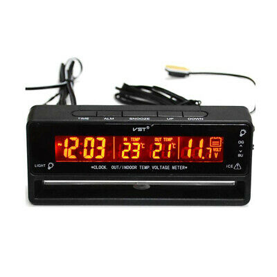 Car Auto LCD Digital Clock Thermometer Temperature Voltage Meter Tester TS-7010V