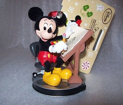 Disney Store 2016 Mickey Mouse Animator Sketchbook Ornament New In Box