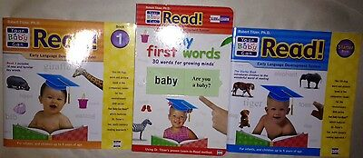 3 YOUR BABY CAN READ lot SLIDE & Learn + 2 Lift Flap word reading Books  TODDLER