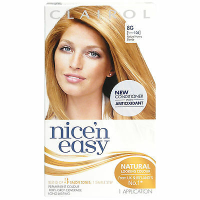 Clairol Nice'n Easy Permanent Hair Dye 8G - Former 104 Natural Honey Blonde