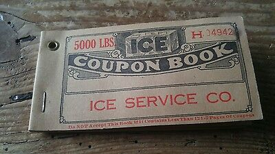 1930s Coupon Book Vigo Ice & Cold Storage Co. Terre Haute IN With 20 Coupons