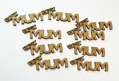 wooden crafts BEST MUM shapes, laser cut 3mm mdf embellishments, decoupage,