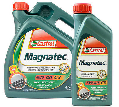 Castrol Magnatec 5W-40 C3 Fully Synthetic Engine Oil 4L or 1 Litre