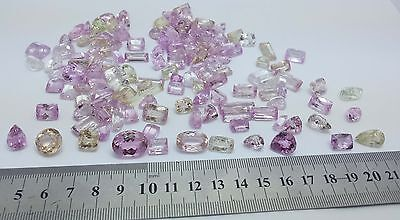 mixed color pink heated and rest are natural kunzite 139 piece 610 carat lot