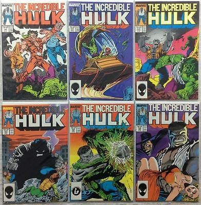 Incredible Hulk #330,331,332,333,334 & 335 (1st series Marvel) lots of firsts!!!