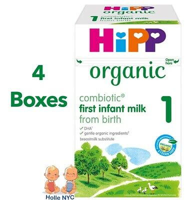 HiPP Organic Combiotic First Infant Milk Stage 1 UK Version 800g 4 BOXES06/2018