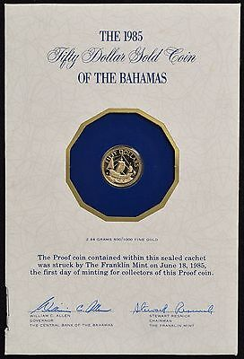 1985 Proof Fifty Dollar Gold Coin of the Bahamas