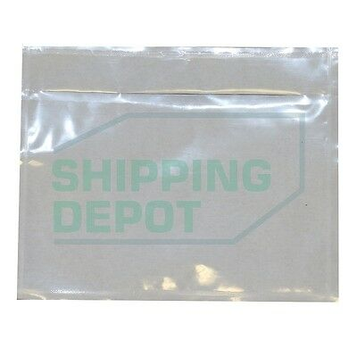 """4.5/"""" x 5.5/"""" Packing List Envelopes Adhesive Clear Invoice Slip Address Pouches"""