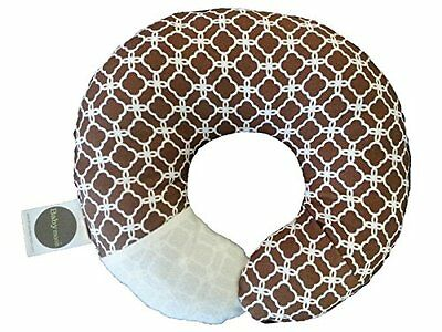 NDB-Babymoon Pillow - For Flat Head Syndrome & Neck Support (Cocoa Clover)