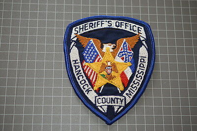 Old Hancock County Mississippi Sheriff's Department Patch (T3)
