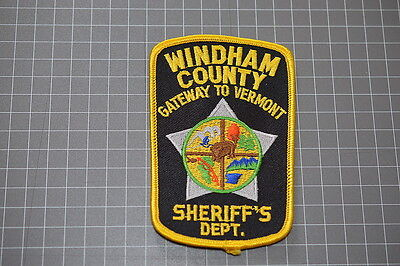Windham County Vermont Sheriff's Department Patch (T3)
