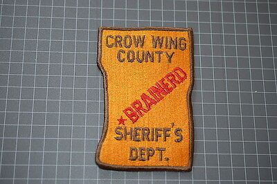 Old Crow Wing County Minnesota Sheriff's Department Patch (T3)