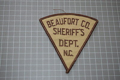 Old Beafort County North Carolina Sheriff's Department Patch (T3)