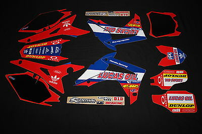 Honda  Crf250R & Crf450R Lucas Oil Flu Mx Graphics Decals Kit Stickers