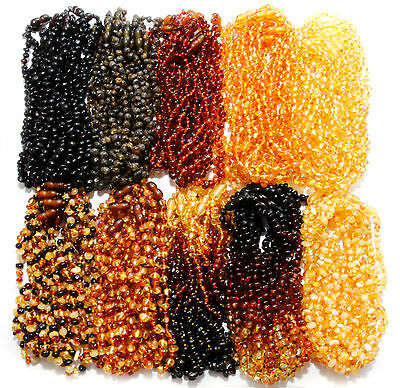 Wholesale Genuine Baltic Amber Beads Baby Child Necklaces 11 Color Variations