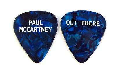 Paul McCartney Guitar Pick. OUT THERE Tour Pick. 2014-2015. Blue Pick.