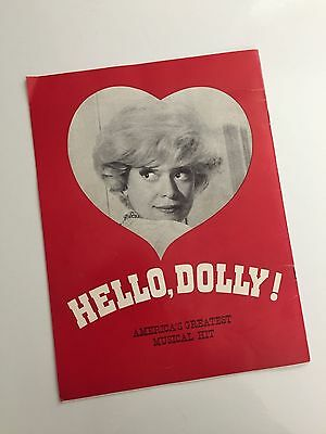 1970 Souvenir Program CAROL CHANNING in HELLO DOLLY! Musical Booklet / Brochure