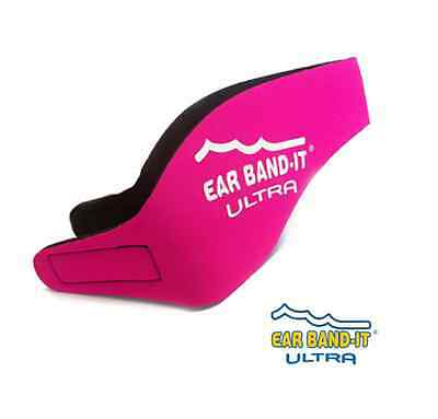 NEW (PINK) ULTRA EAR BAND-IT HEADBAND for Swim and Bath + FREE Floating EarPlugs