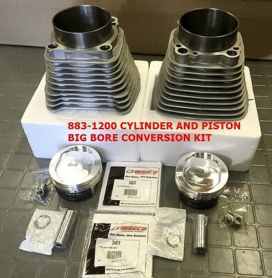 883-1200 Cylinder And Piston Big Bore Conversion Kit 9.5:1 Harley Sportster 04 +