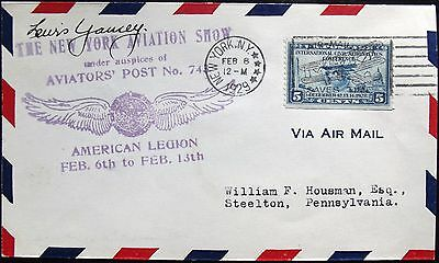 Lewis Yancey Aviation Pioneer Record Holder Flew Autogyro Signed Cover Died 1940