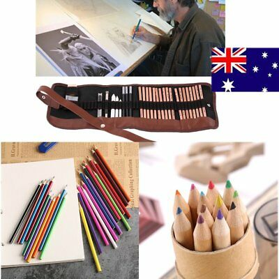 12/24/29 PCS Sketch Pencil Set Drawing Sketching  Craft Art Student Stationery G
