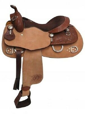 "16"" Double T Training Saddle FULL QH BARS 02816"