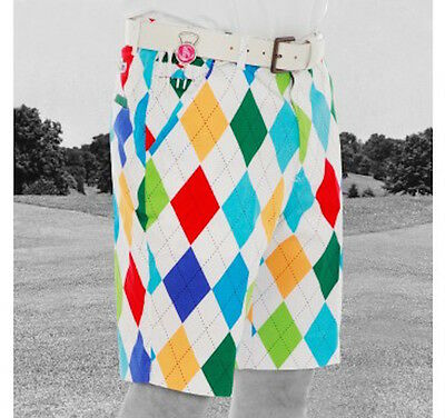 NUOVO Royal & Awesome Funky Forte Pantaloncini Da Golf - King of Diamanti