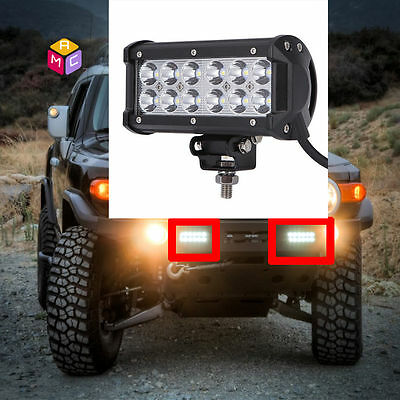 6'' LED Light Bar Side X Side Yamaha Rhino Viking VI Grizzly SXS Sand Quad ATV