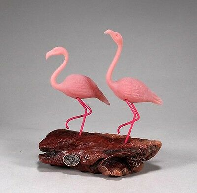 Pair of FLAMINGO New direct from JOHN PERRY 7in tall.Sculpture Statue Figurine