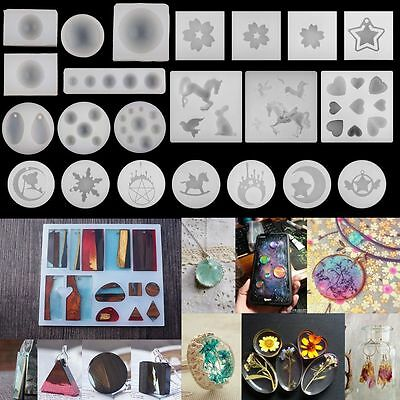 Silicone Resin Gem Mold for DIY Jewelry Pendant Making Tool Mould Handmade Craft