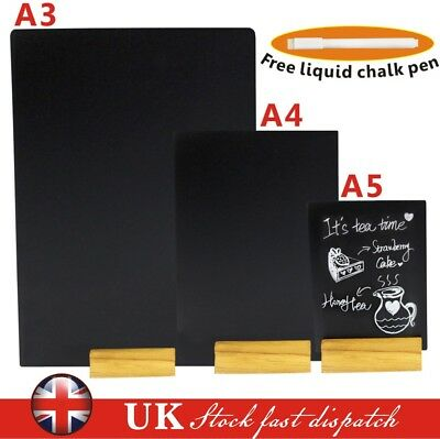 A5 A4 A3 Blackboard Chalkboard Table Top Stand Counter Specials Menu Display