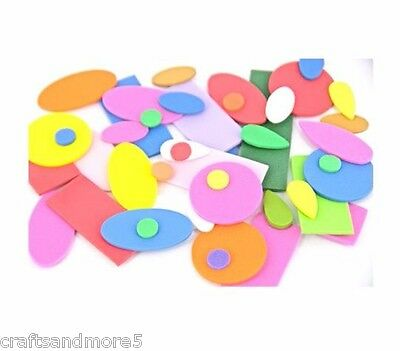 150 Assorted Foam Shapes ~ 10mm-50mm ~ Great for Decorating Crafts