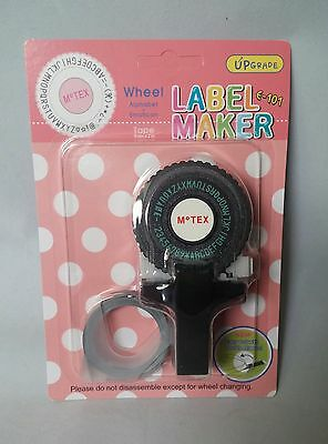 Black Motex E101 Embossing Tape Gun with 1 Roll of Tape