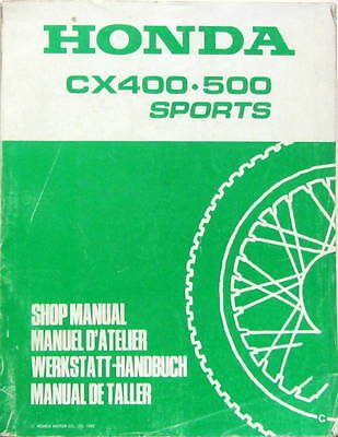 1982 Moto Honda Cx 400 .500 Sports   Shop Manual Manuel Handbuch