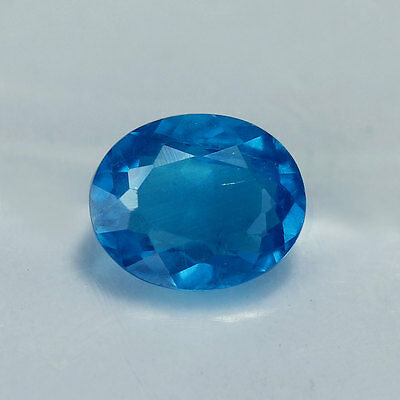 1.13 Cts-Oval Cut-Natural-Neon Blue-Apatite-GE1371