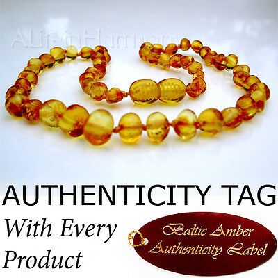 Golden Honey BALTIC AMBER Baby Child NECKLACE AGbA® Certified
